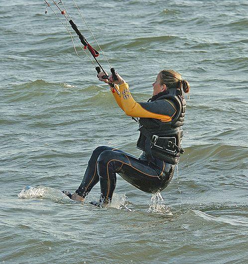 waterstart kitesurfing inicio