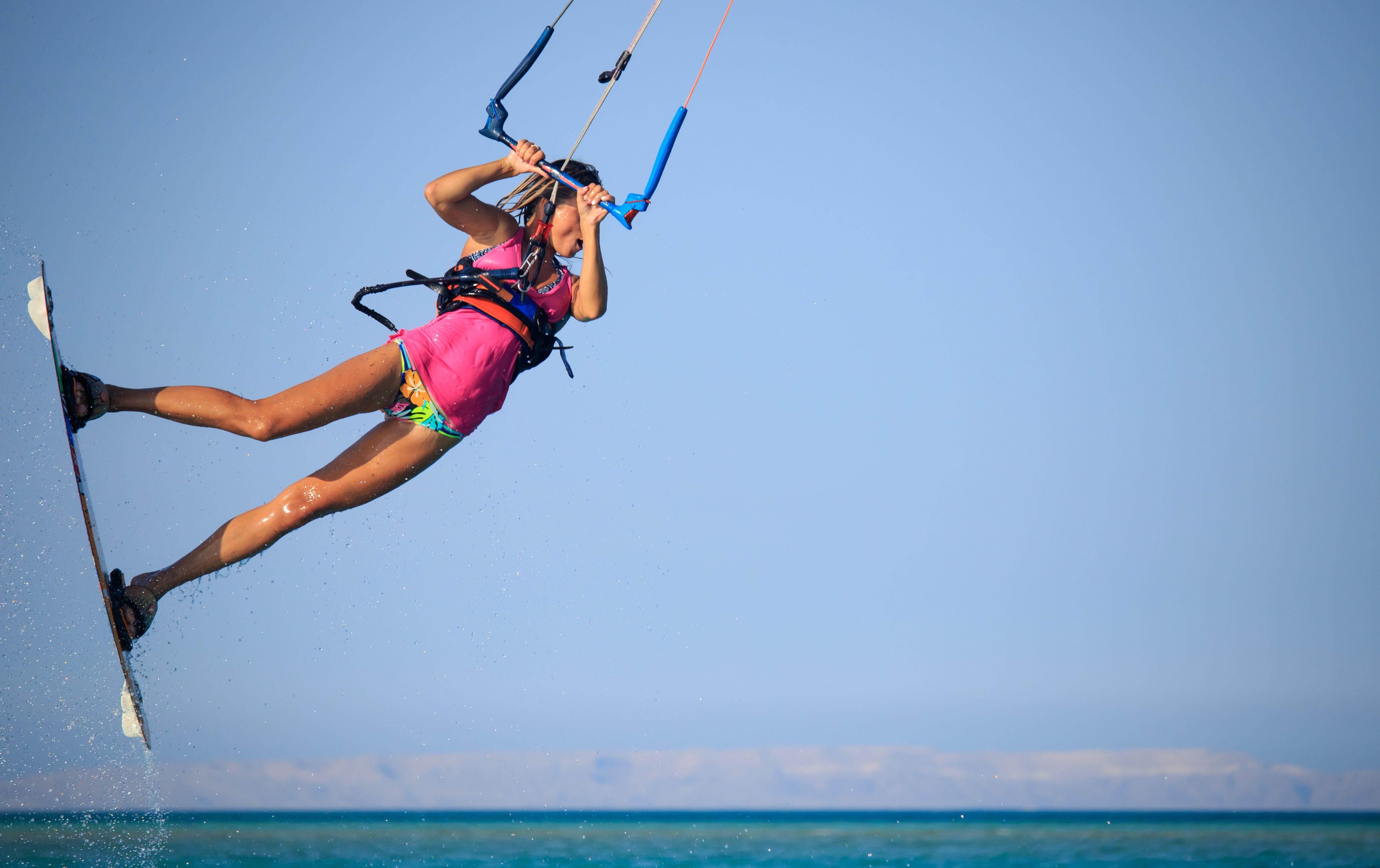 saltos kitesurf jumping