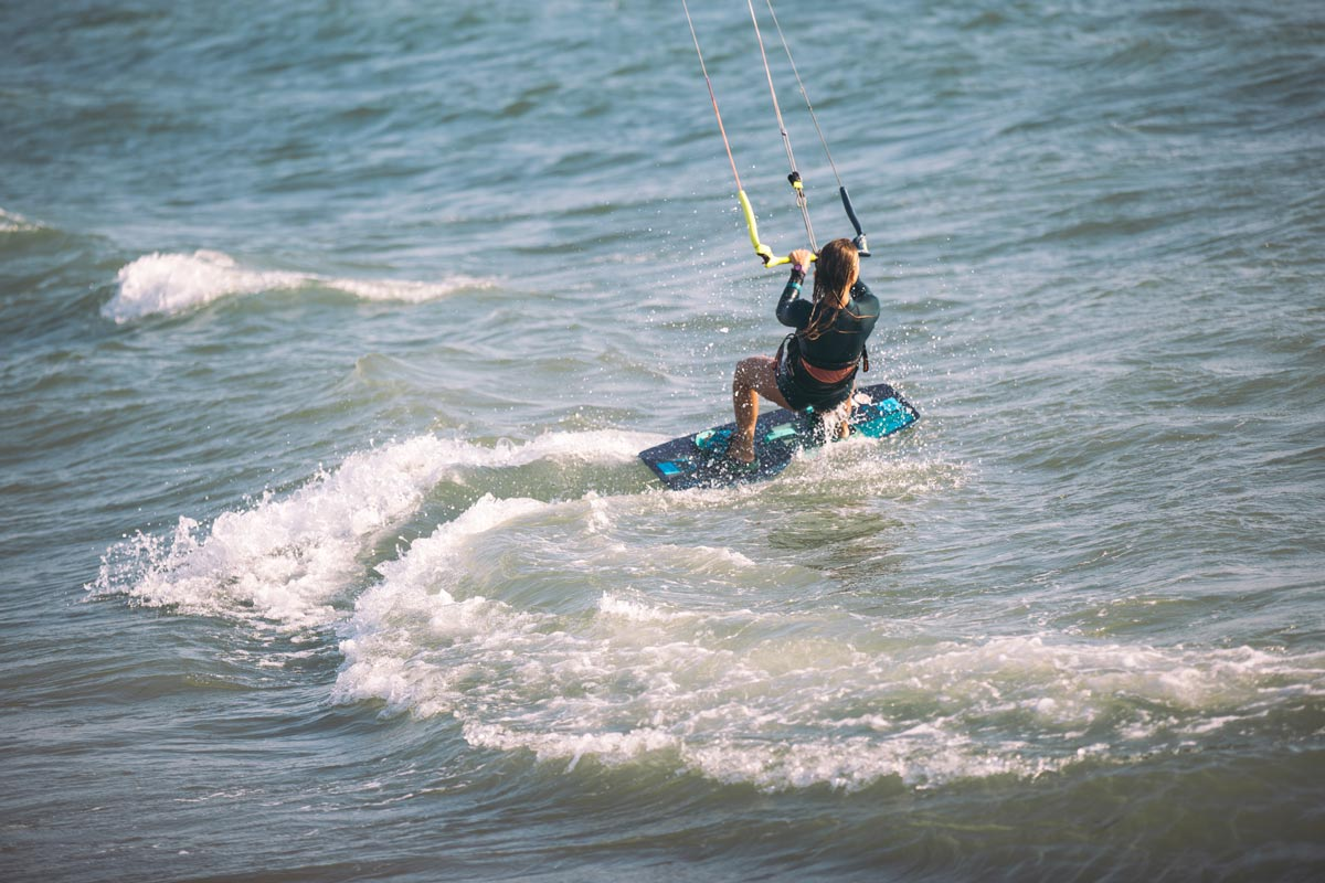 transicion giros rumbo kitesurf
