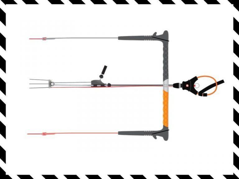 material equipo barra kitesurf nueva