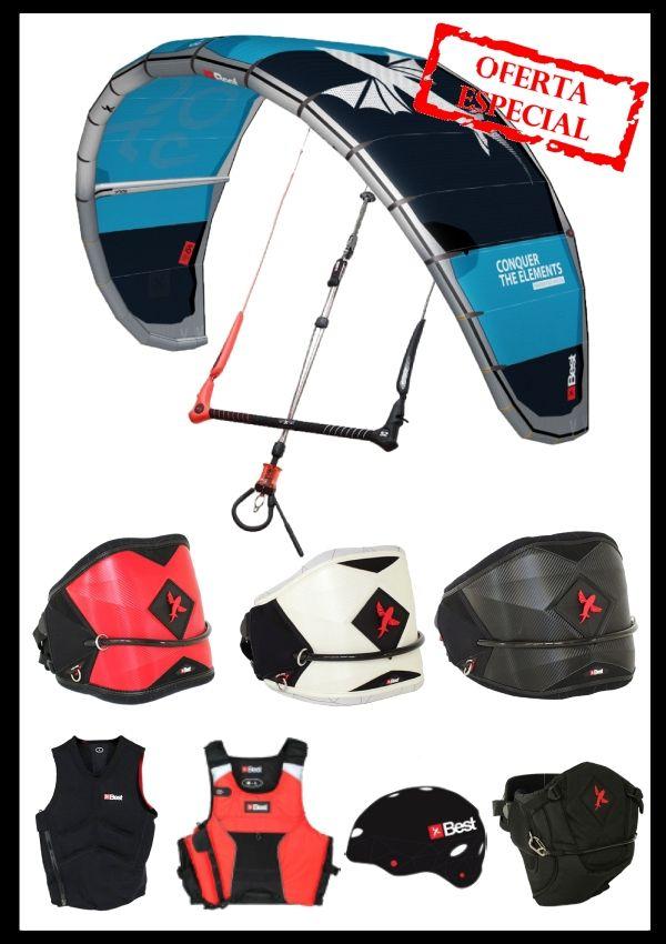 material-equipo-de-kitesurf-completo-iniciacion -best