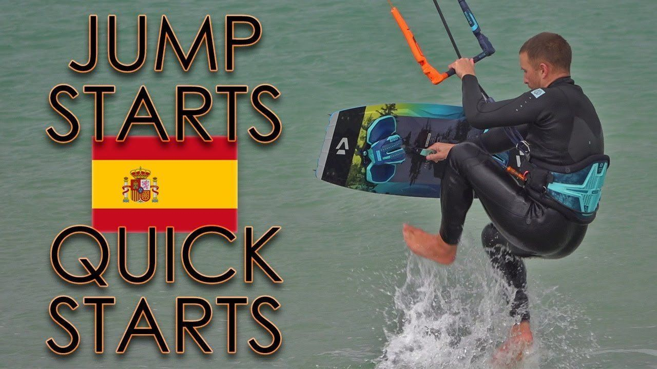 jump starts kitesurf